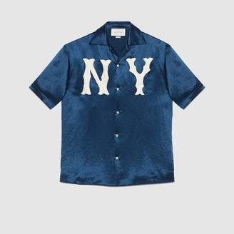 Gucci Bowling shirt with NY YankeesTM patch