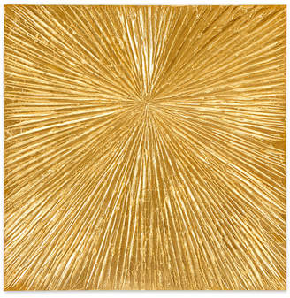 Madison Park Signature Sunburst Gold-Tone Resin Dimensional Box Wall Art