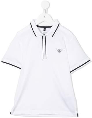 Emporio Armani Kids zipped detail polo shirt