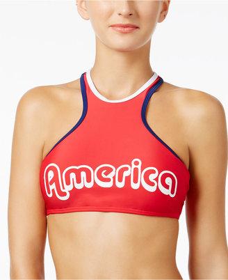 California Waves America High-Neck Bikini Top $28 thestylecure.com