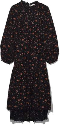Ulla Johnson Josette Dress in Noir Floral