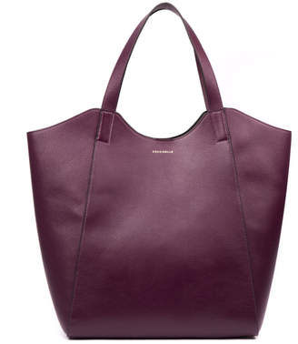 Coccinelle Mistral Plum Leather Tote