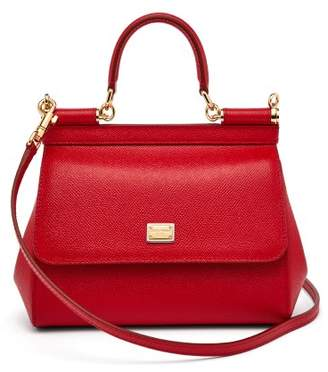Dolce   Gabbana Sicily Small Dauphine Leather Bag - Womens - Red 9122302b738df