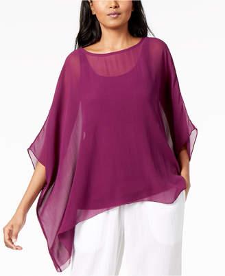 Eileen Fisher Silk Asymmetrical Top