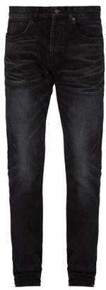 Saint Laurent Faded Slim Leg Jeans - Mens - Black