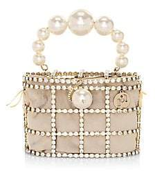 Rosantica Women's Holli Embellished Grid Top Handle Bag