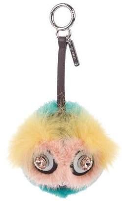 Fendi Fur Dazzling Bag Bug Charm w/ Tags