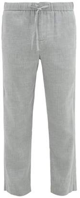 Frescobol Carioca Sandro Linen Blend Chino Trousers - Mens - Grey