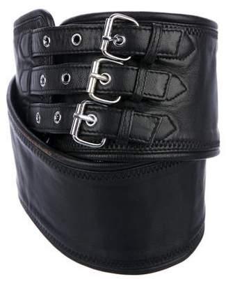 Herve Leger Leather Waist Belt