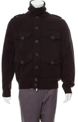 C.P. Company Stand-Collar Wool Cardigan