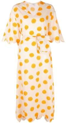 Rhode Resort ドット ラップドレス
