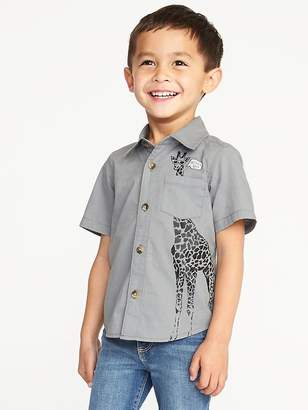 "Old Navy ""What's Up?"" Giraffe-Graphic Shirt for Toddler Boys"