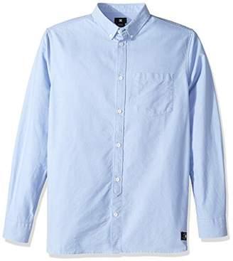 DC Men's Classic Oxford Light Long Sleeve Button Down Shirt