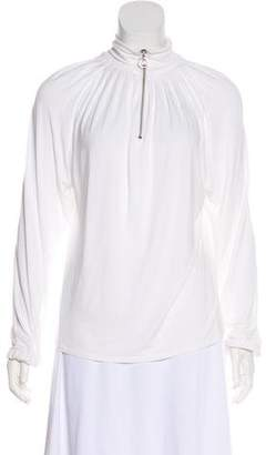 MICHAEL Michael Kors Long Sleeve Pleated Top
