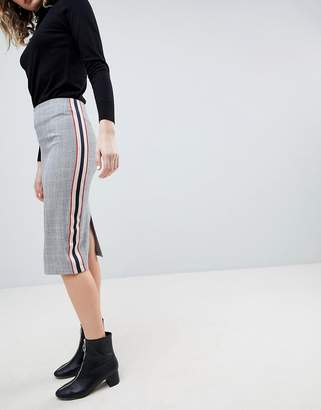 Asos DESIGN Tailored Side Stripe Pencil Skirt