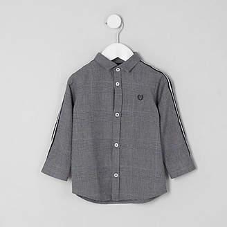 River Island Mini boys grey check tape shirt