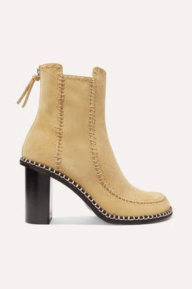 J.W.Anderson Scare Crow Suede Ankle Boots - Beige