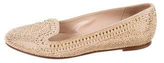 Valentino Studded Suede Loafers
