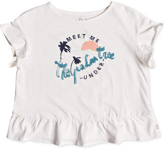 Roxy Graphic-Print Cotton T-Shirt, Little Girls