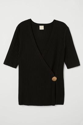 H&M Rib-knit Sweater - Black