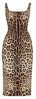 Dolce & Gabbana Women's Leopard-Print Sleeveless Dress