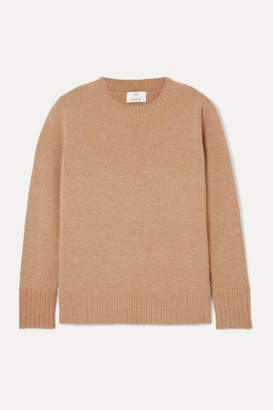 Allude Wool And Cashmere-blend Sweater - Camel