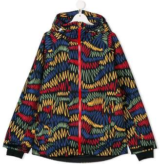 Stella McCartney (ステラ マッカートニー) - Stella Mccartney Kids geometric print raincoat