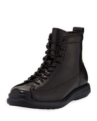 Giorgio Armani Men's Milord Leather Lace-Up Boots