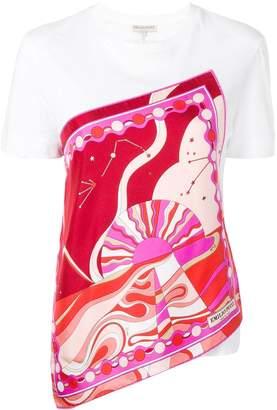 Emilio Pucci Copacabana Print Asymmetric Silk T-shirt