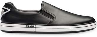Prada Leather slip-on sneakers