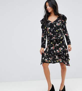 Miss Selfridge Petite Hanky Hem Floral Skirt