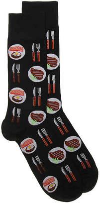 Hot Sox Salmon & Steak Dress Socks - Men's