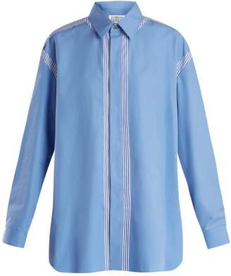 Maison Margiela Oversized point-collar cotton shirt