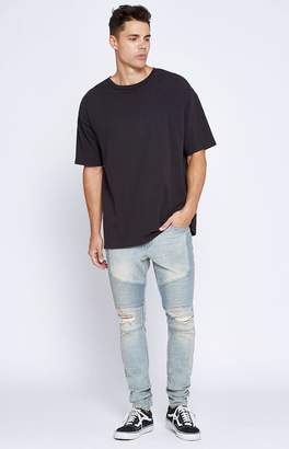 PacSun Stacked Skinny Active Stretch Moto Light Tint Jeans
