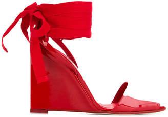 high-heeled wrap sandals