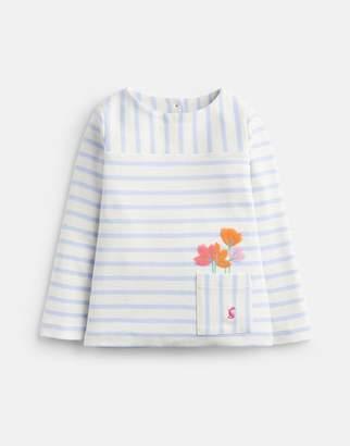 Joules SKY BLUE STRIPE Lianna Stripe Jersey T-Shirt 1-6yr Size 5yr