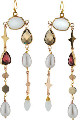 Nakamol Mixed Stone Dangle Earrings