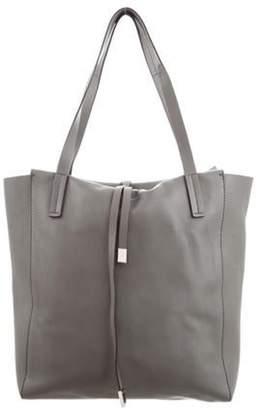 Michael Kors Leather Tote Bag Grey Leather Tote Bag