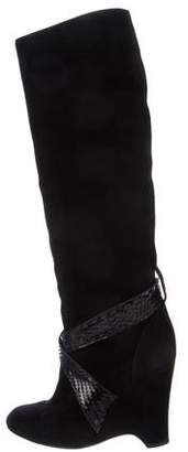 Marc Jacobs Suede Knee-High Boots