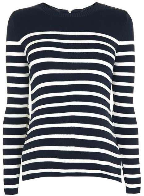 TopshopTopshop Maternity stripe zip back jumper