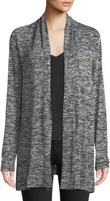 Max Studio Heathered Tie-Front Cardigan