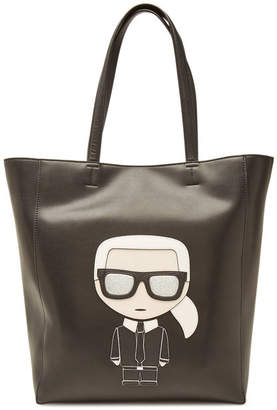 Karl Lagerfeld K/Ikonik Shopper with Leather