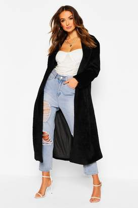 boohoo Premium Fluffy Faux Fur Maxi Coat
