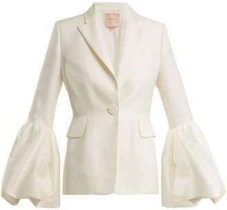 Roksanda Narika puff-sleeved crepe blazer