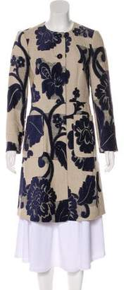 Etro Floral Knee-Length Coat