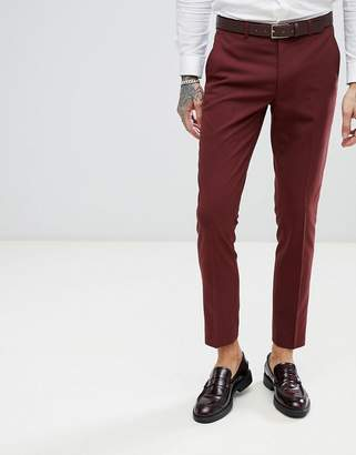 Harry Brown Rust Stretch Skinny Fit Suit Pants