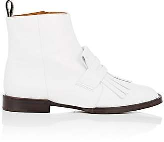 Clergerie Women's Yousc Leather Ankle Boots - White
