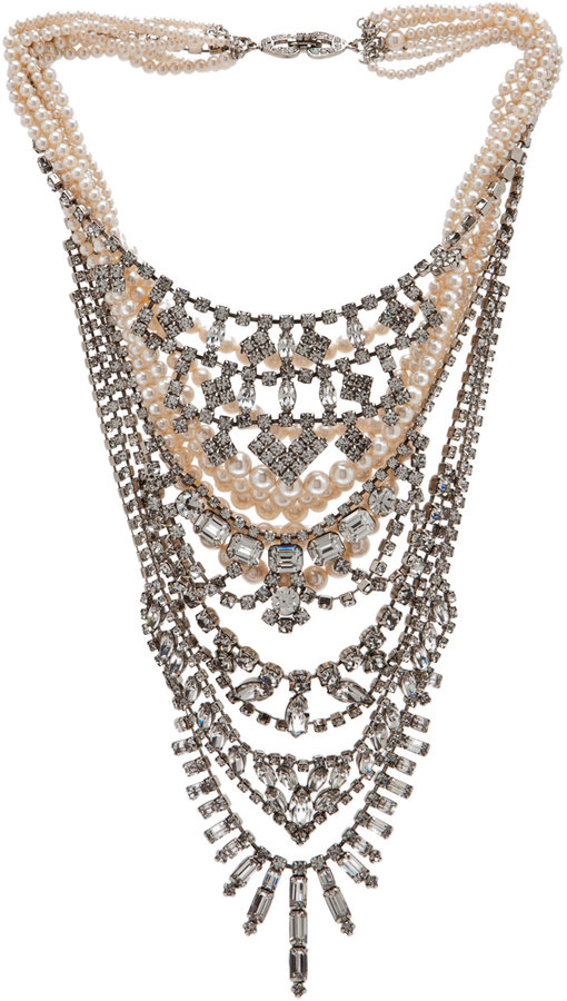 Tom Binns Candy Rhodium Tiered Necklace in Multi