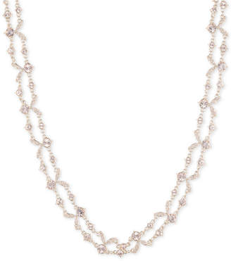 """Givenchy Crystal Double-Row Collar Necklace, 16"""" + 3"""" extender"""