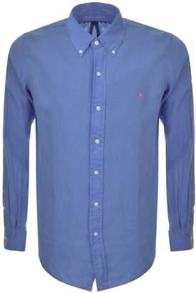 Ralph Lauren Linen Shirt Blue